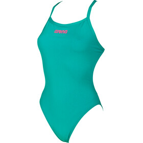 arena Solid Light Tech High One Piece Swimsuit Women persian green-aphrodite